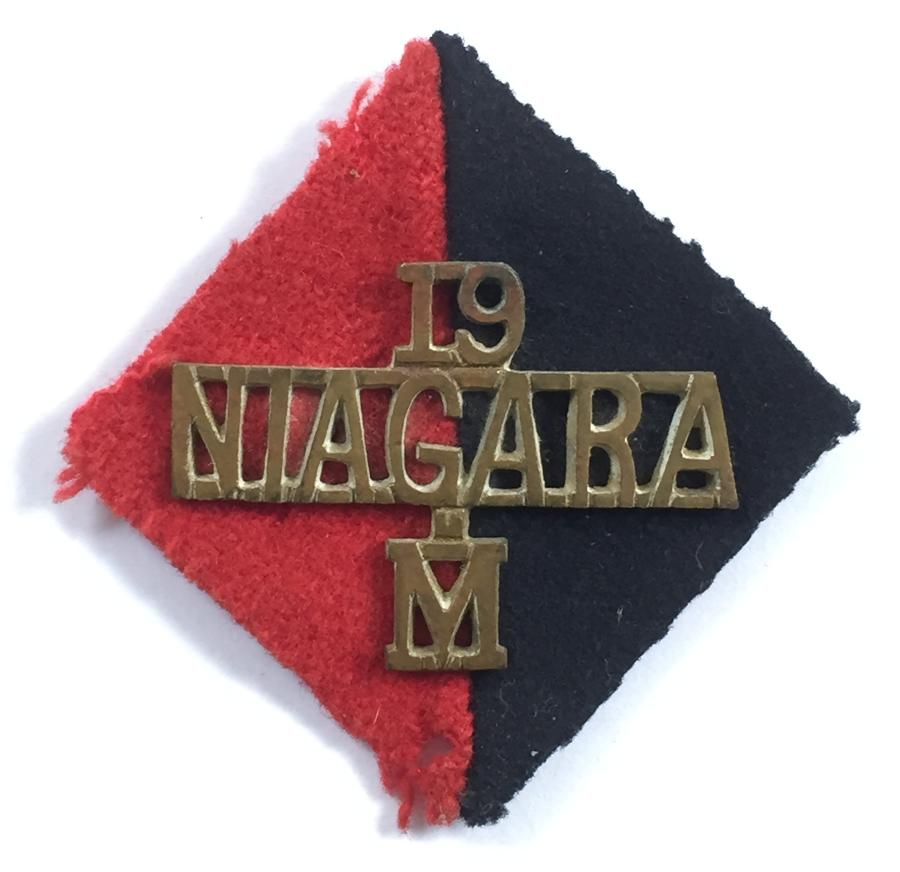 19th Med Bty RA pari badge