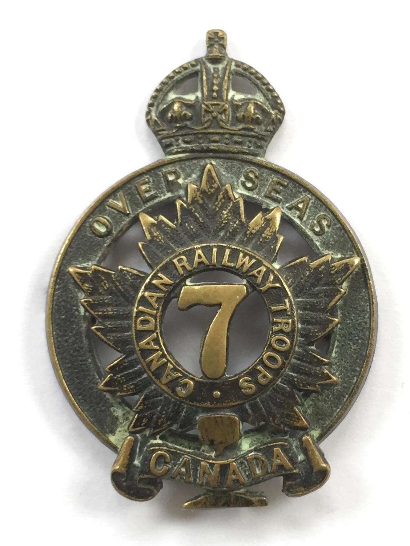 7th Canadian Railway Troops WW1 cap badge