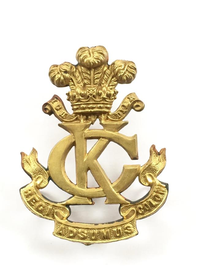 Kings Colonials Boer War slouch hat badge