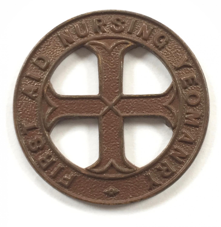 First Aid Nursing Yeomanry WW1 cap badge.