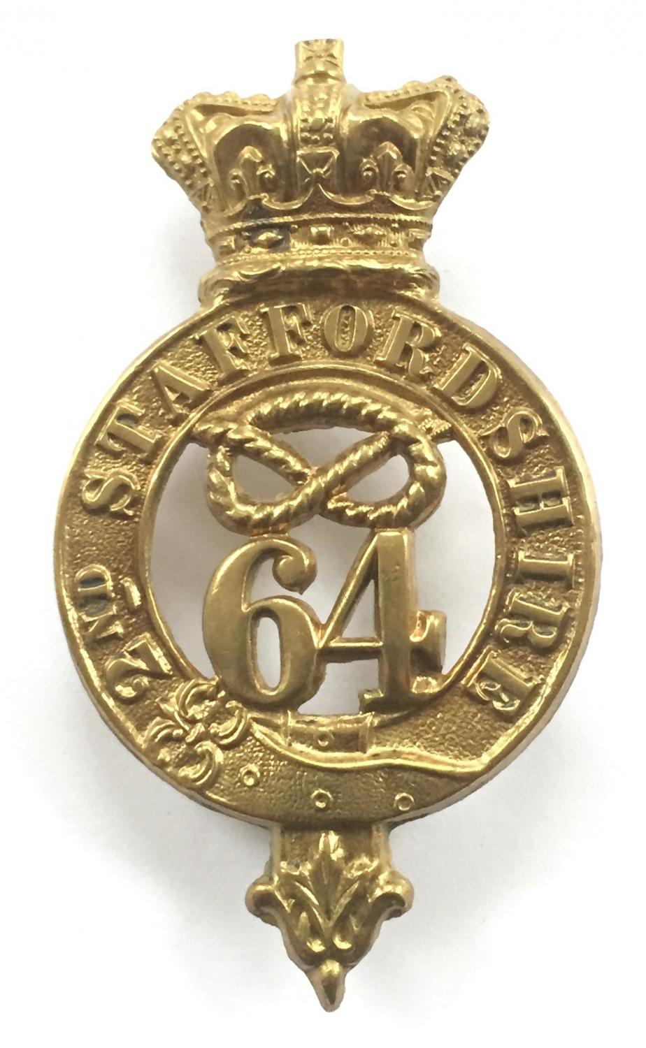 64th (2nd Staffs) Regiment of Foot Victorian glengarry badge 1874-81
