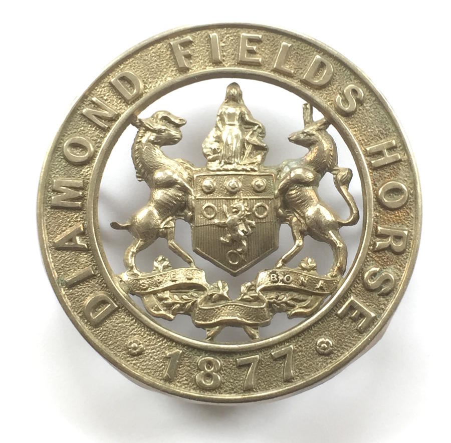 Diamond Fields Horse cap badge c 1902-06.