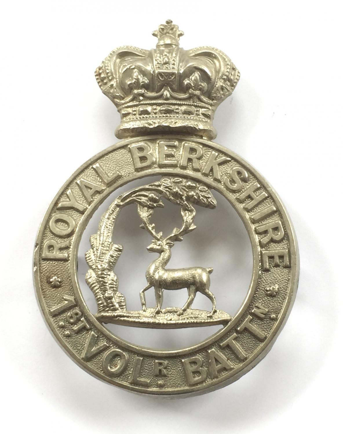 1st (Reading) VB Royal Berkshire Victorian glengarry badge