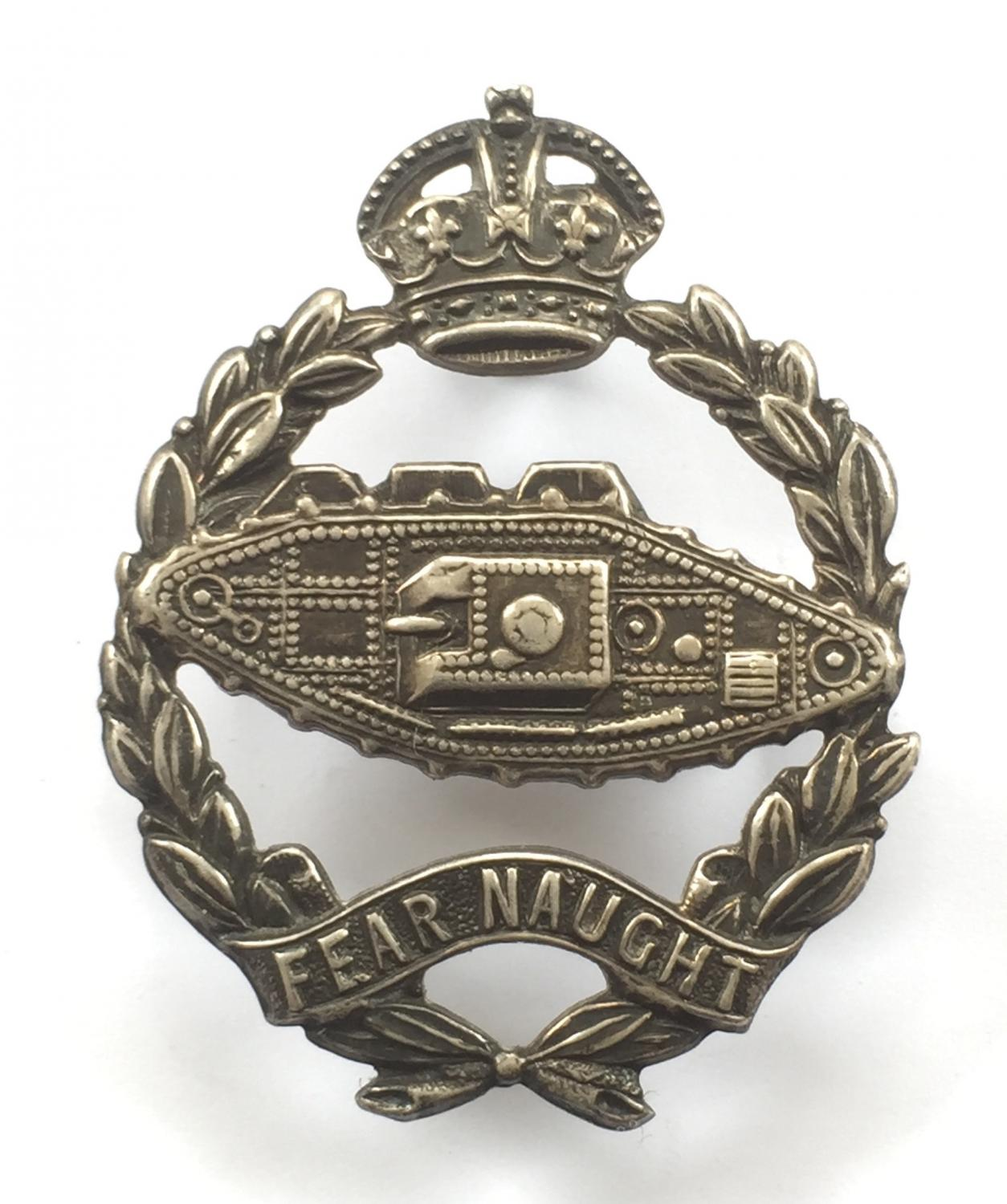 Royal Tank Corps Officer's Sterling silver beret badge