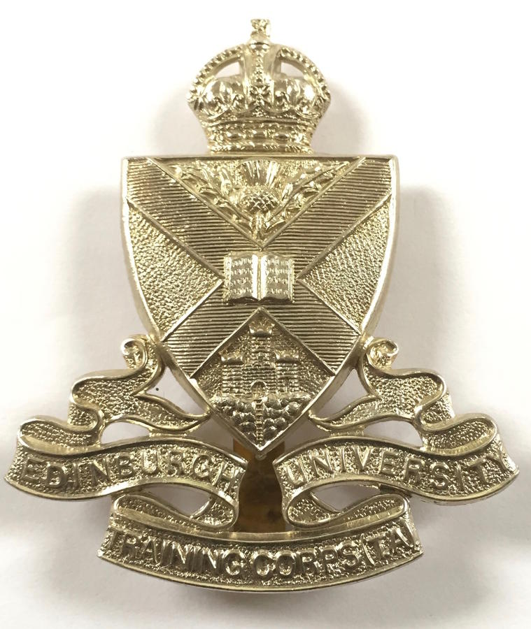 Scottish. Edinburgh University Traning Corps (TA) glengarry badge