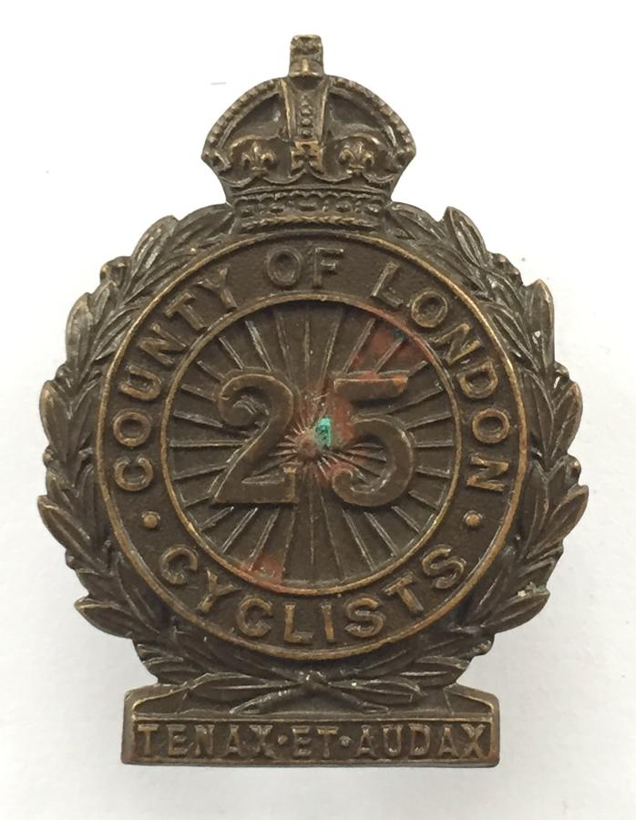 25th County of London (Cyclist) Bn. OSD badge