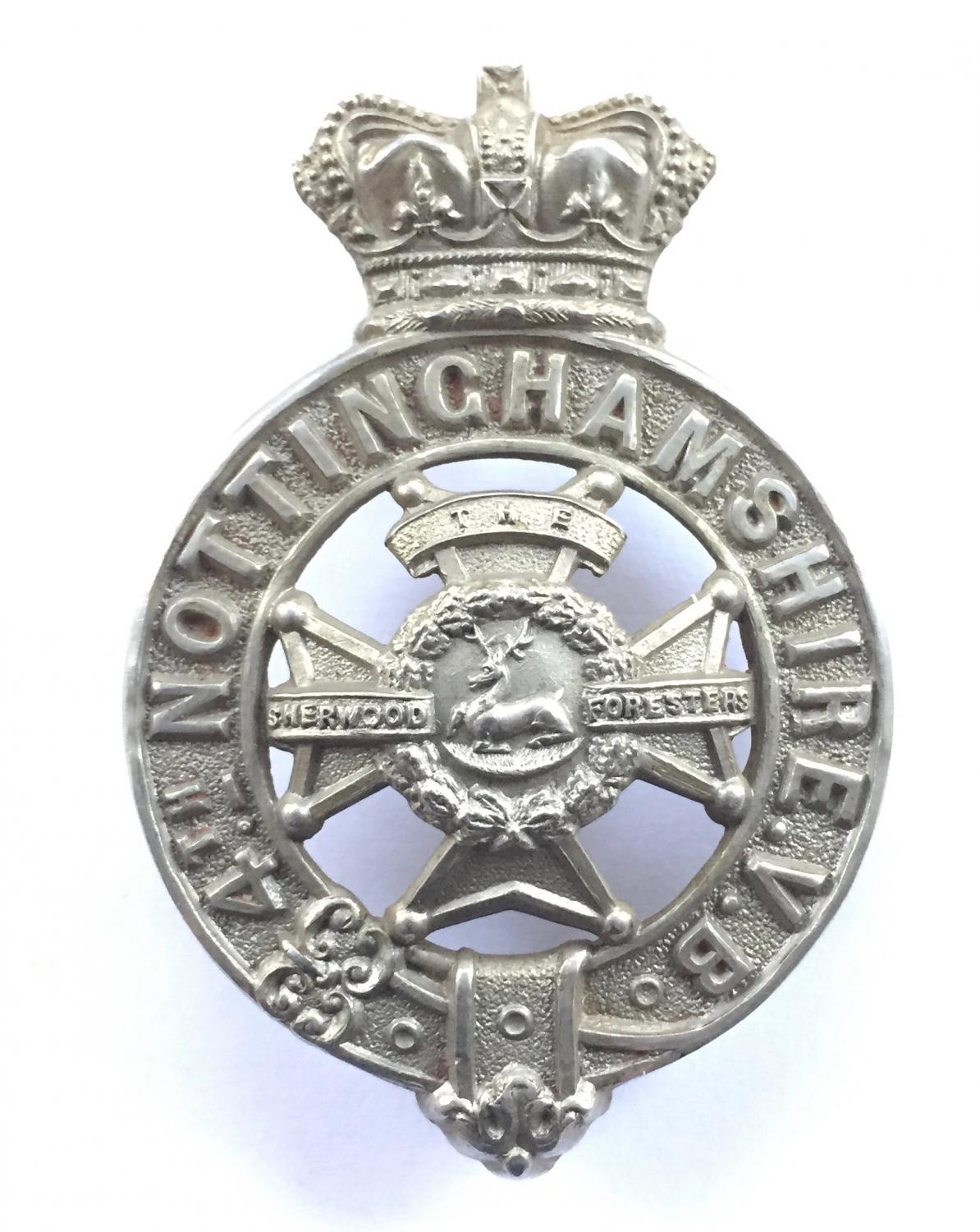 4th VB Notts Victorian glengarry badge