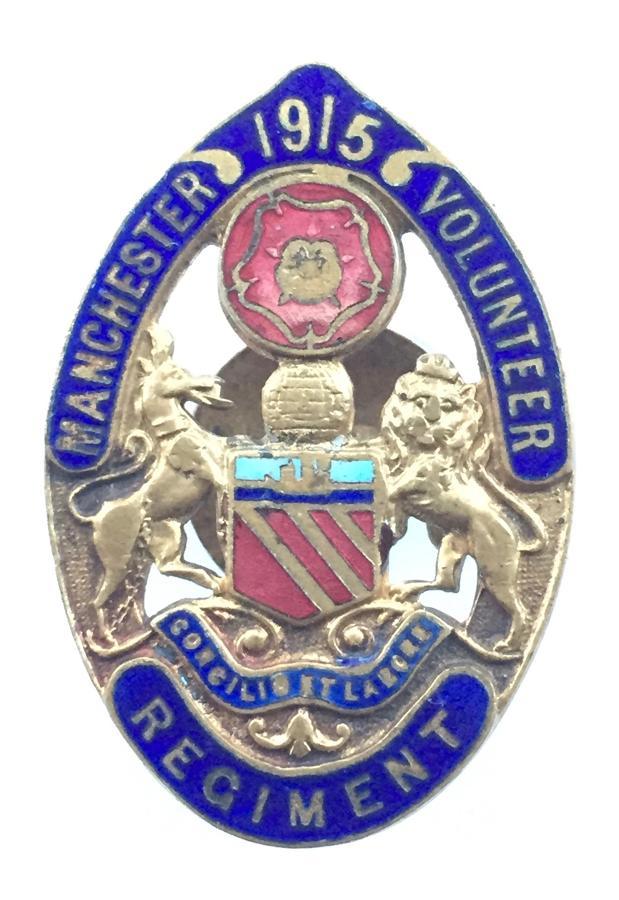 Manchester Volunteer Regiment WW1 VTC badge