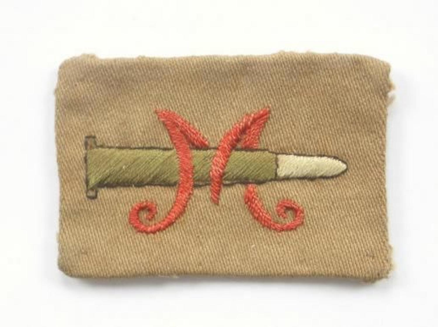 Volunteer Training Corps WWI VTC Marksman's cloth badge