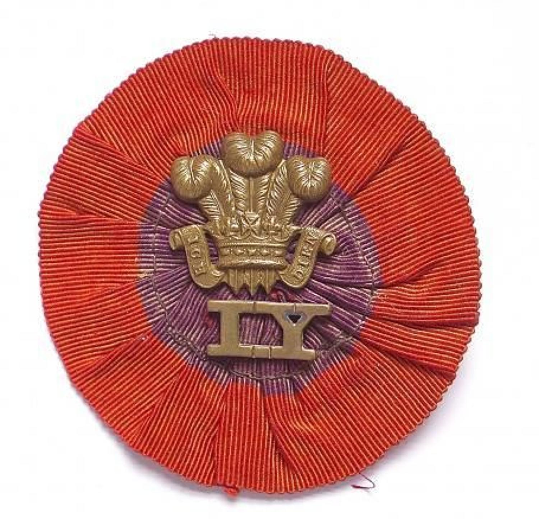Boer War Imperial Yeomanry scarce slouch hat rosette.