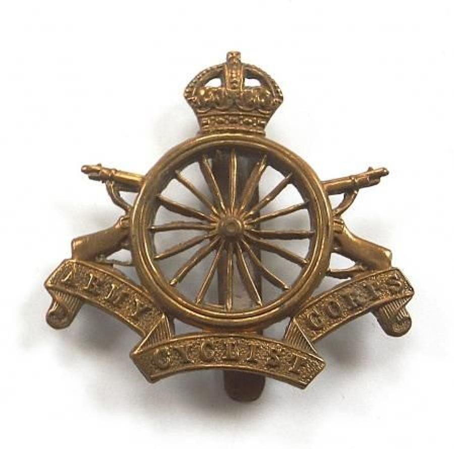 Army Cyclist Corps WW1 brass cap badge.