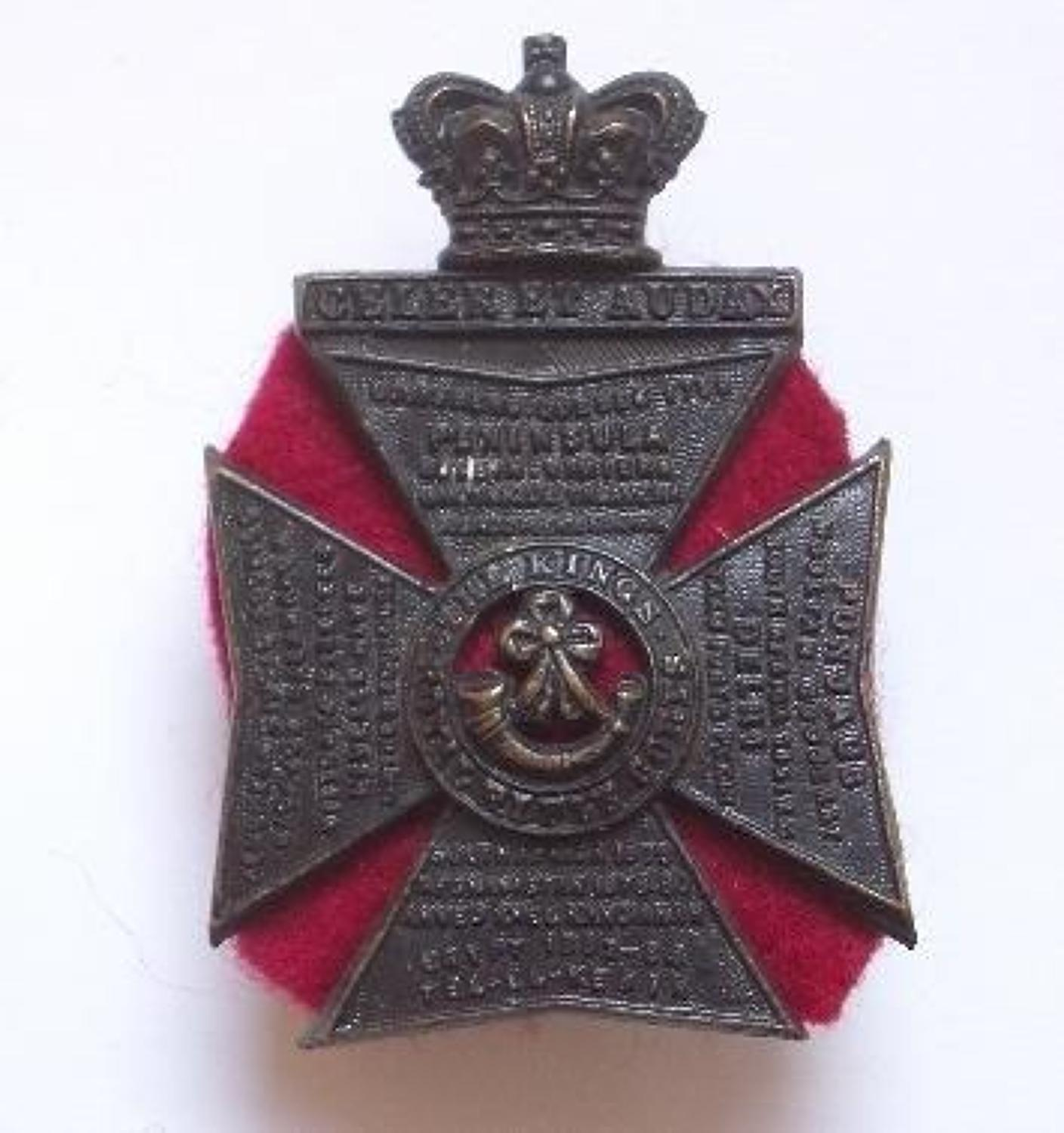 King's Royal Rifle Corps KRRC OR's cap badge circa 1896-1901