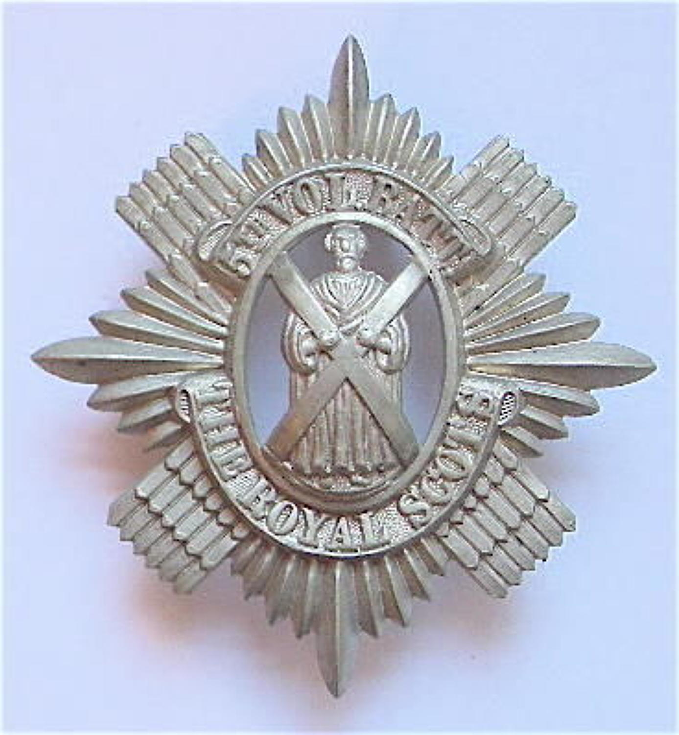 Scottish. 5th VB Royal Scots glengarry badge circa 1888-1908