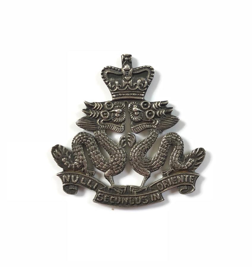 Hong Kong Regiment post 1953 Officer's silver cap badge