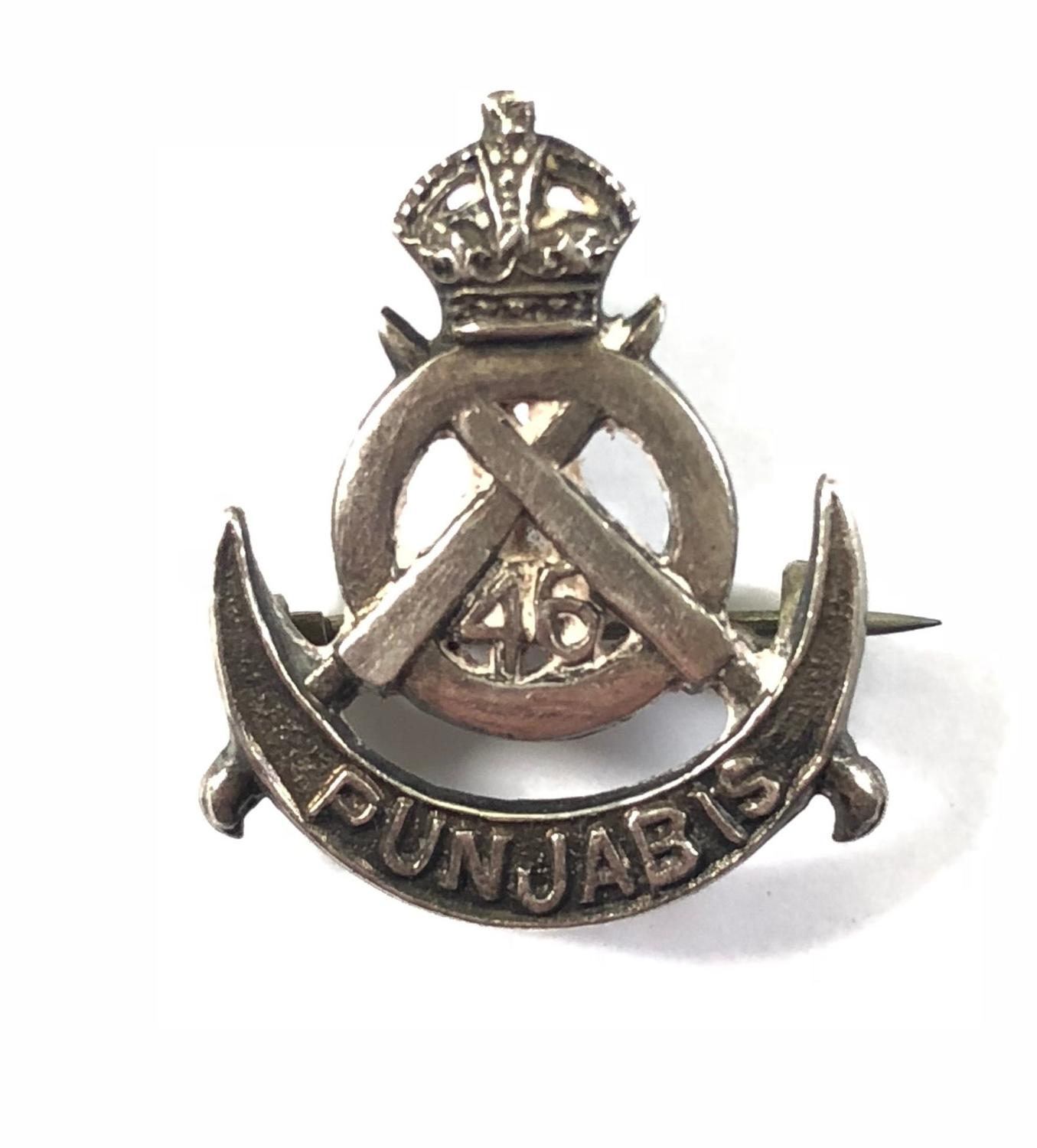 46th Punjab Infantry Officer's Field Service cap badge