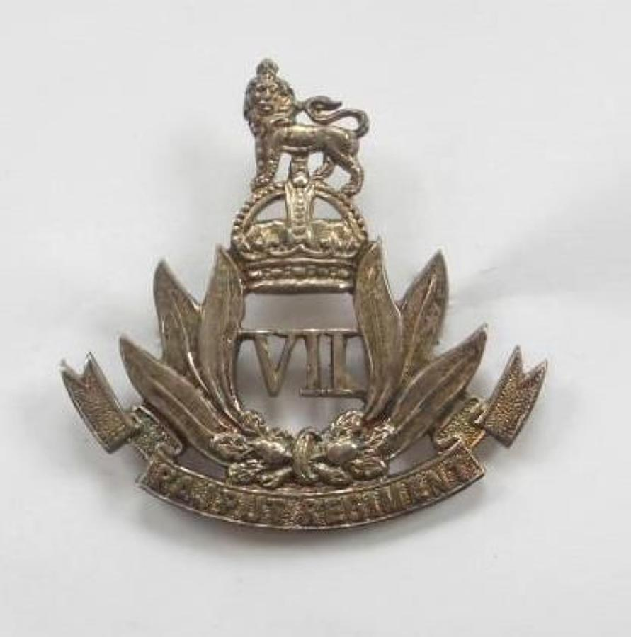 Indian. 7th Rajput Regiment Officer's cap badge by Firmin, London