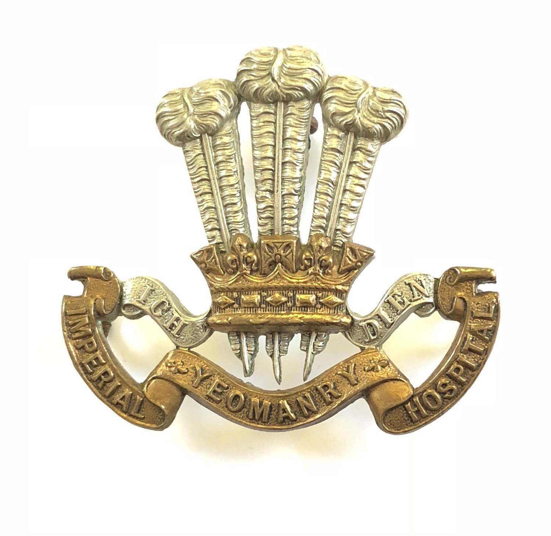 Imperial Yeomanry Hospital Boer War bi-metal slouch hat badge