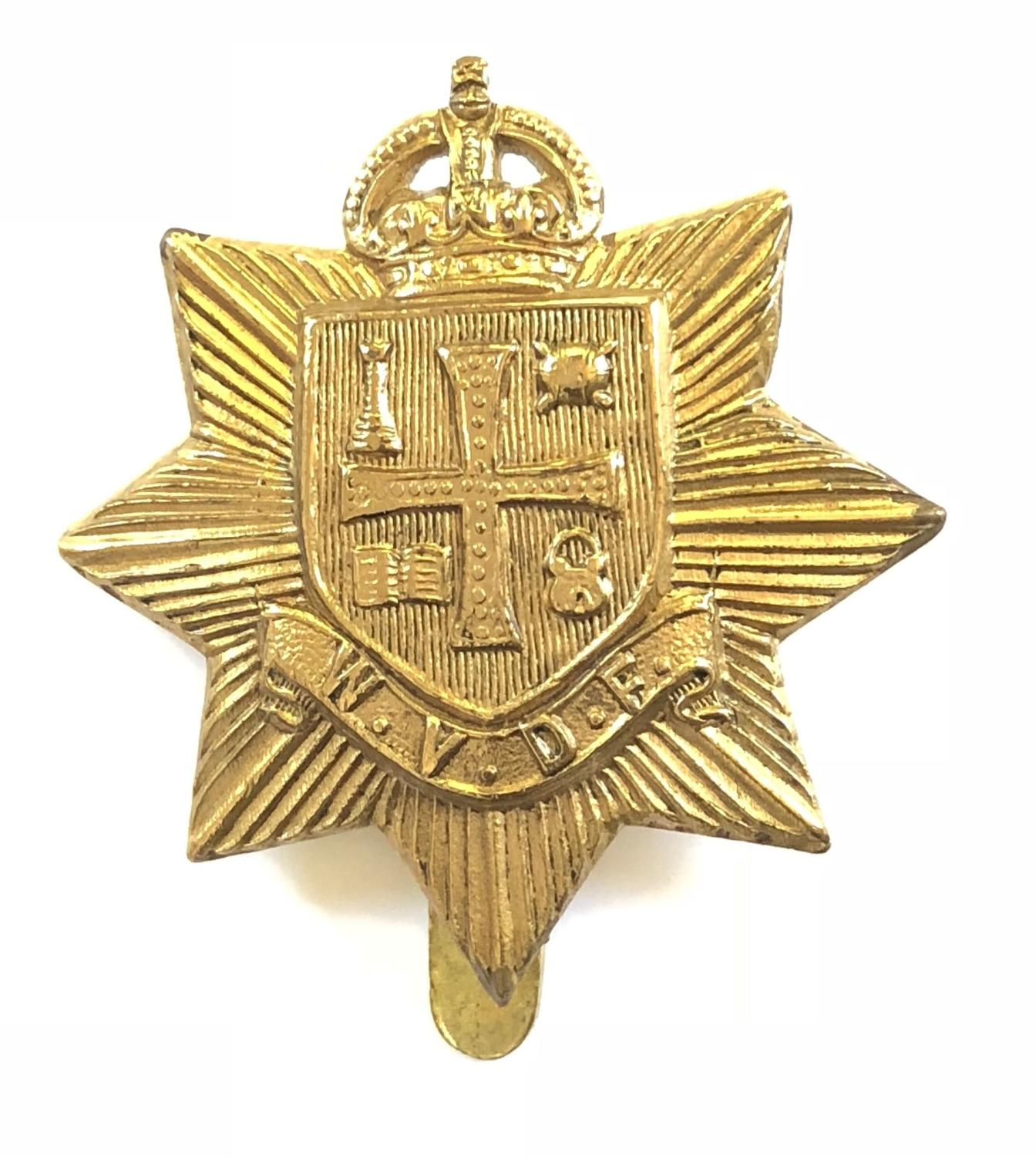 Wolverhampton Volunteer Defence Force scarce VTC WWI brass cap badge