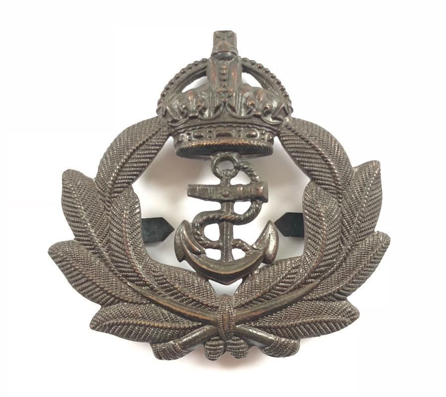 Royal Naval Division Officer's RND OSD bronze cap badge circa 1915-1