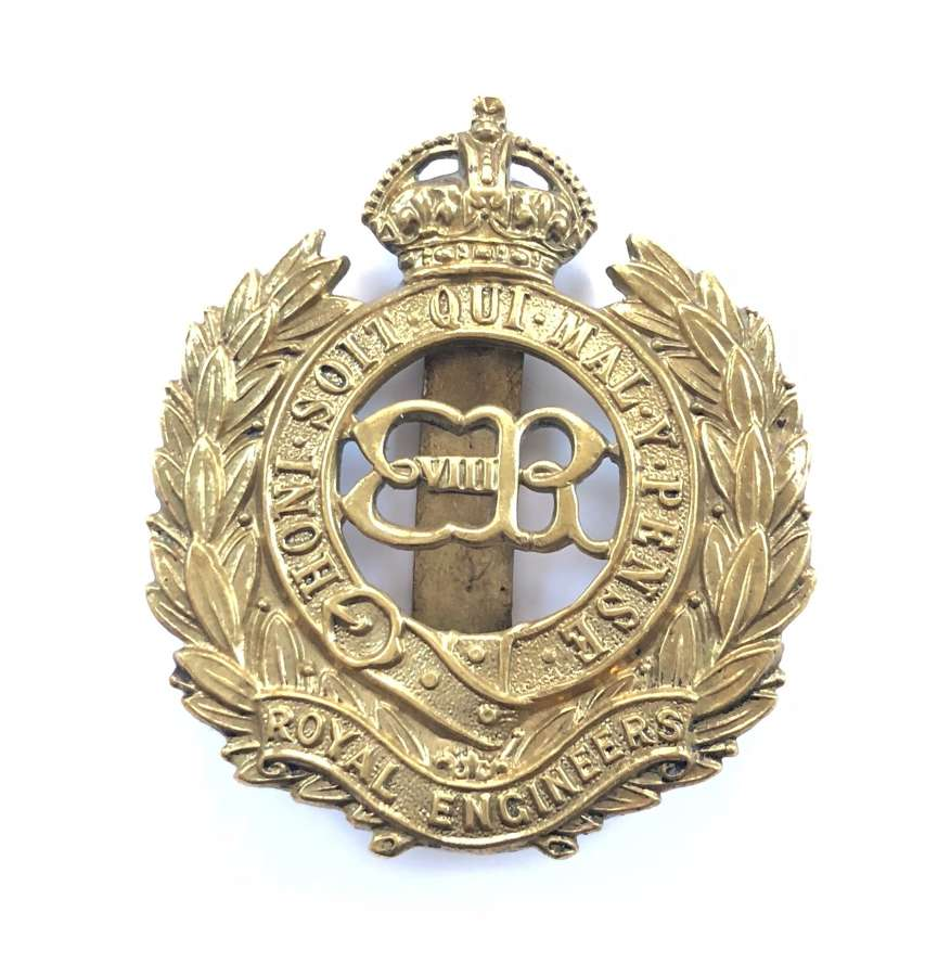 Royal Engineers scarce Edward VIII 1936 OR's cap badge