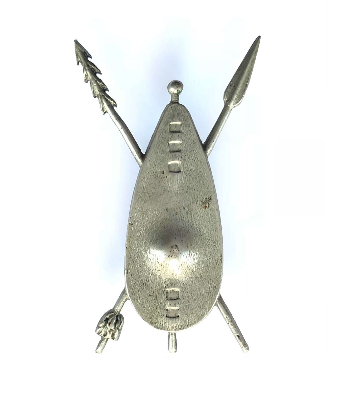 Sudan. Upper Nile Province 1930's white metal cap / pagri badge