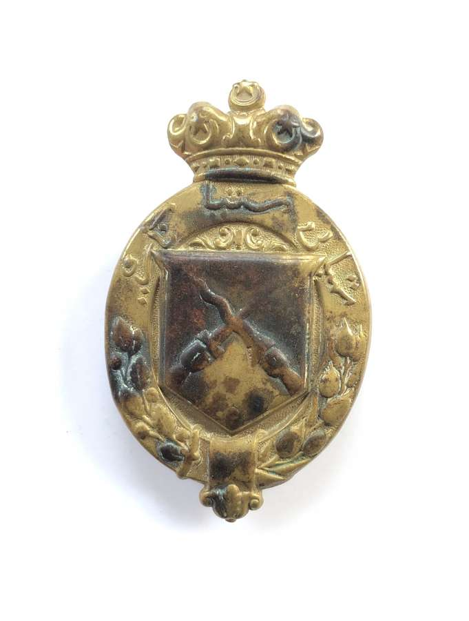 Kelantan Volunteer Rifles 1914 brass head-dress badge