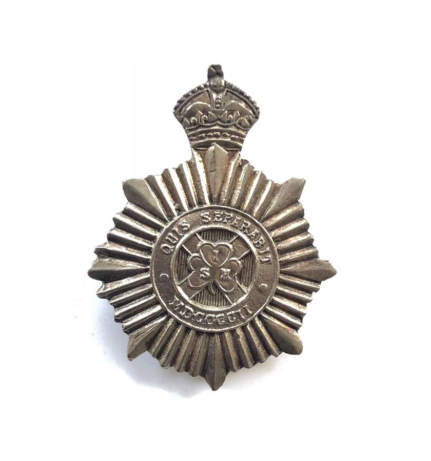 South Irish Horse NCO's 1917 hallmarked silver arm badge