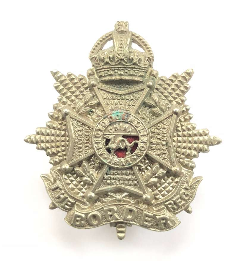Border Regiment small Edwardian OR's cap badge circa 1901-05
