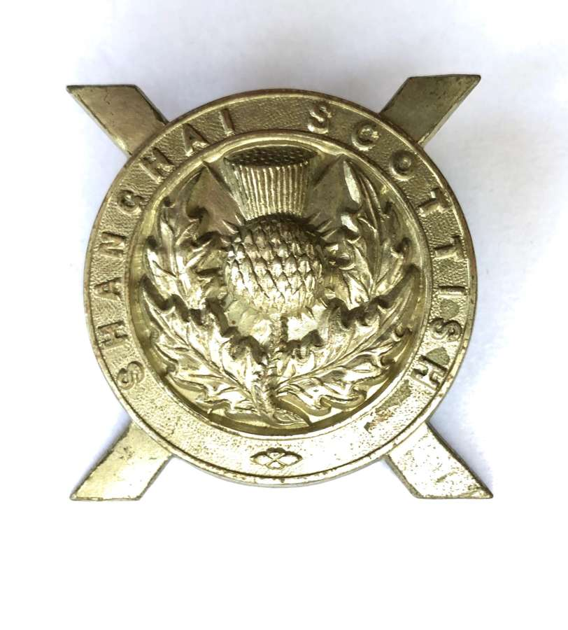 Shanghai Scottish scarce glengarry badge circa 1914-41