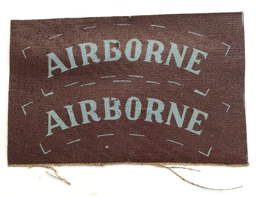 AIRBORNE pair of uncut cloth shoulder titles