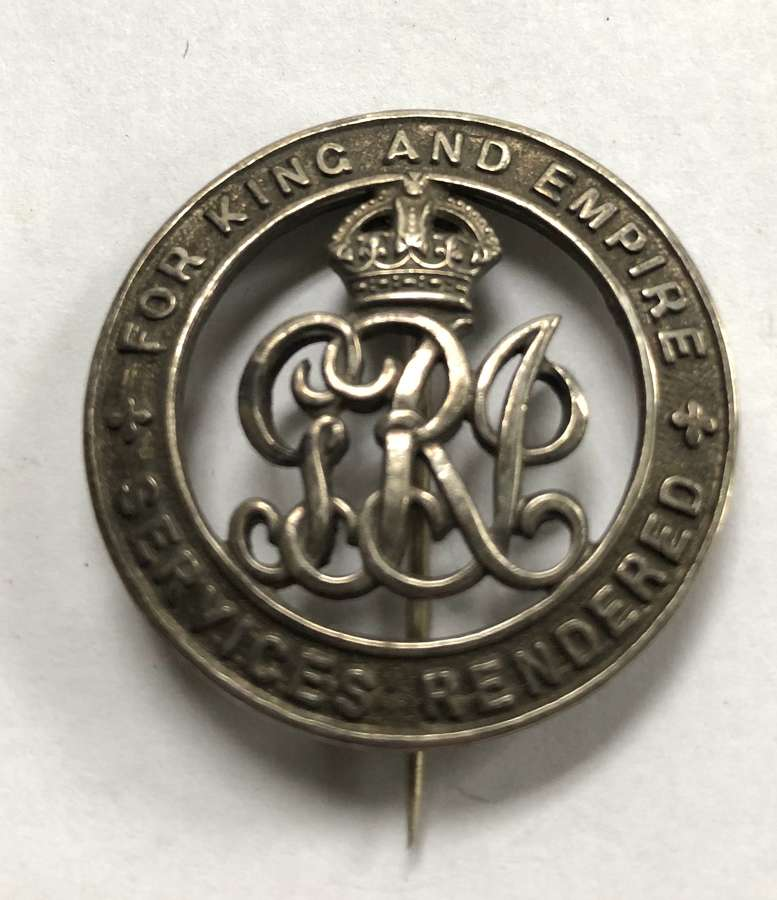 Army Service Corps then Labour Corps WW1 silver wound badge