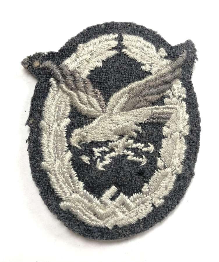 German Third Reich Luftwaffe Air Gunner / Radio Operator cloth badge