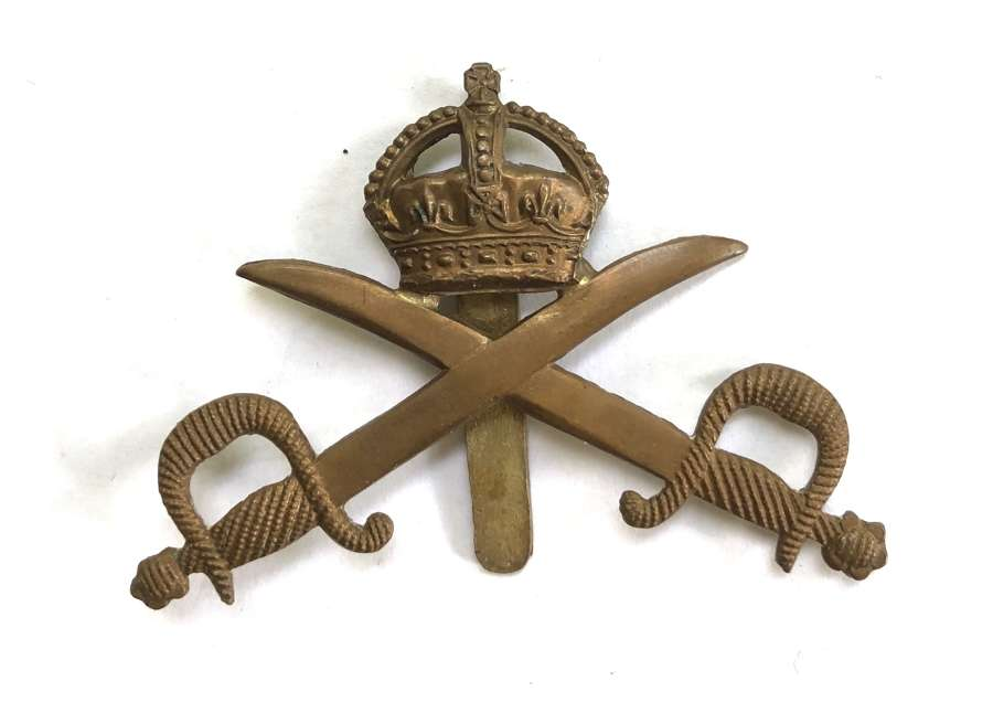 Army Physical Training Staff brass cap badge