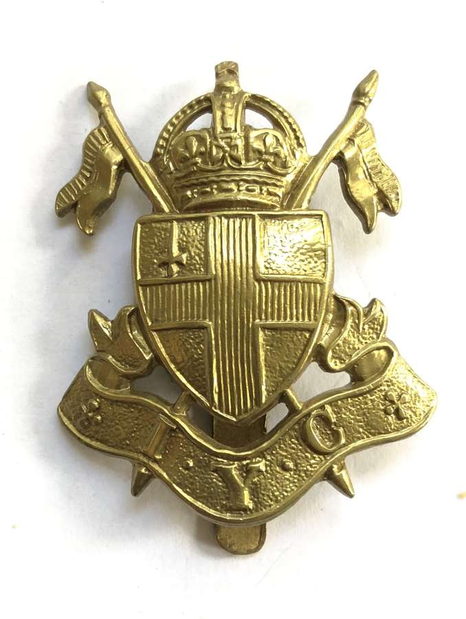 Imperial Yeomanry Cadets scarce brass cap badge