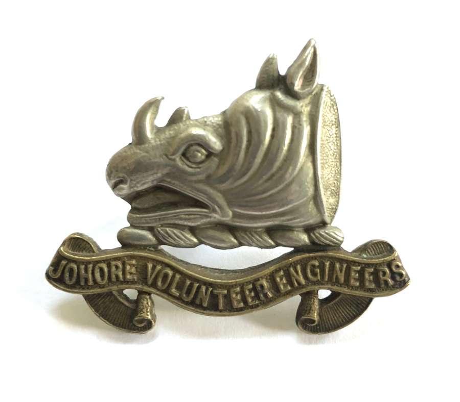 Malay States. Jahore Volunteer Engineers cap badge circa 1928-42