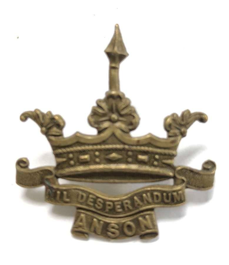 RND Anson Battalion Royal Naval Division OR's cap badge circa 1916-1