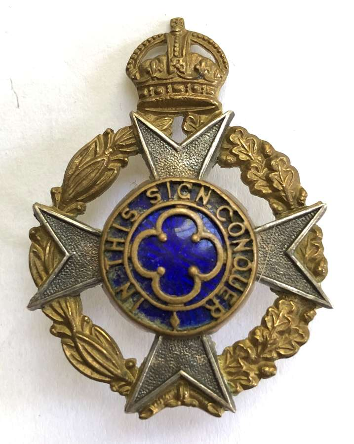 Royal Army Chaplain's Department pre 1952 dress cap badge