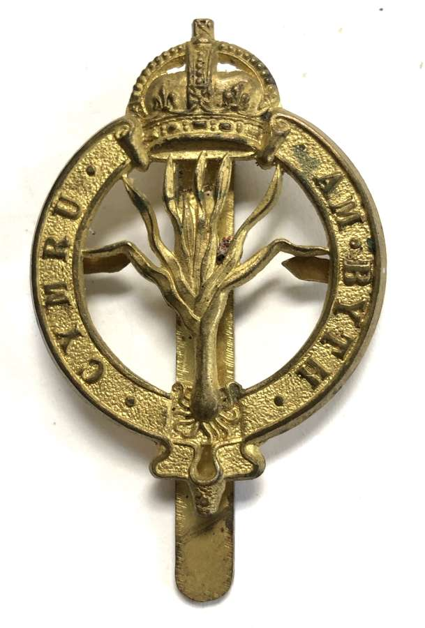Welsh Guards post 1915 Foreign Service Helmet pagri badge