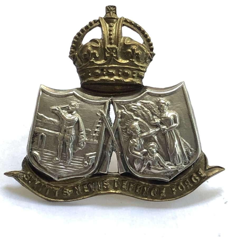 St. Kitts Nevis Defence Force scarce OR's bi-metal cap badge