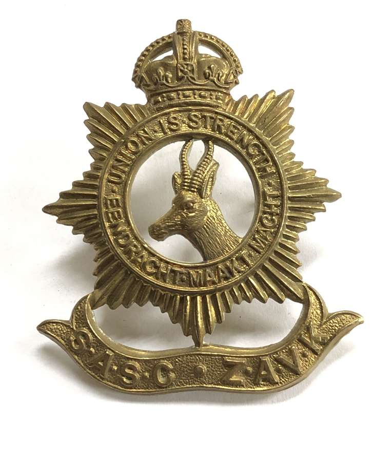 South African Army Service Corps cap badge circa 1916-18 only