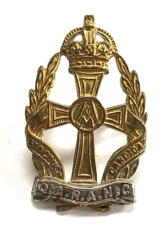QARANC Officer's 1949-52 silvered and gilt cap badge by Gaunt