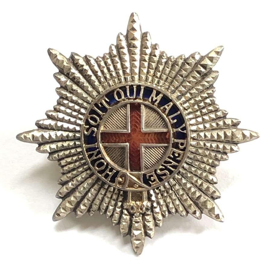 Coldstream Guards Warrant Officer's silver, gilt & enamel cap star