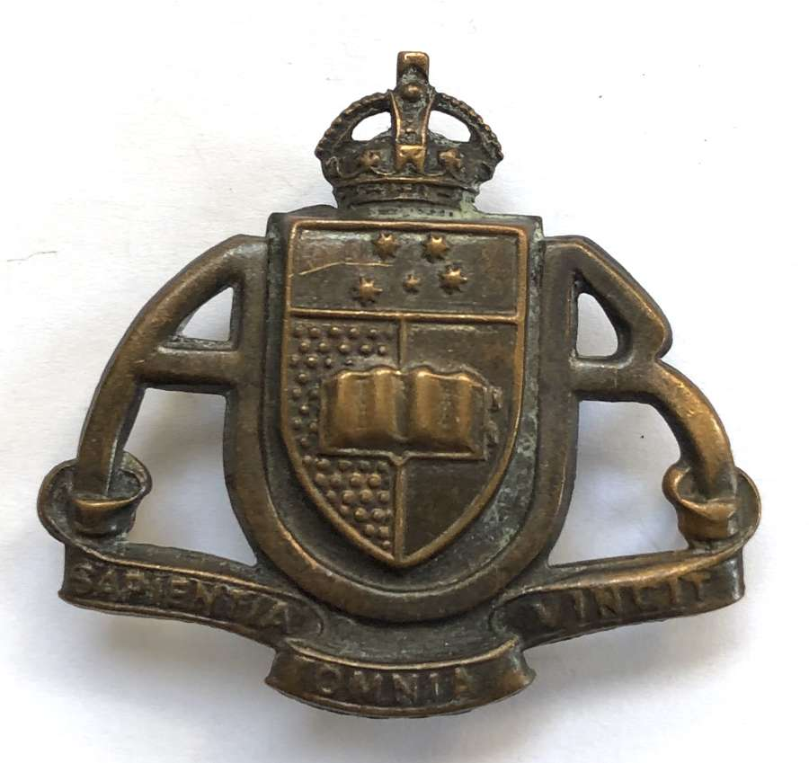 Australian. Adelaide University Regiment slouch hat badge c1948-52