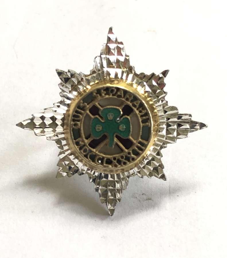 Irish Guards silver Officer's Service Dress cap star