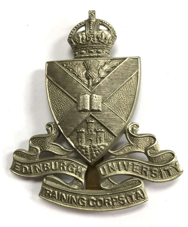 Edinburgh University Training Corps (TA) cap / glengarry badge