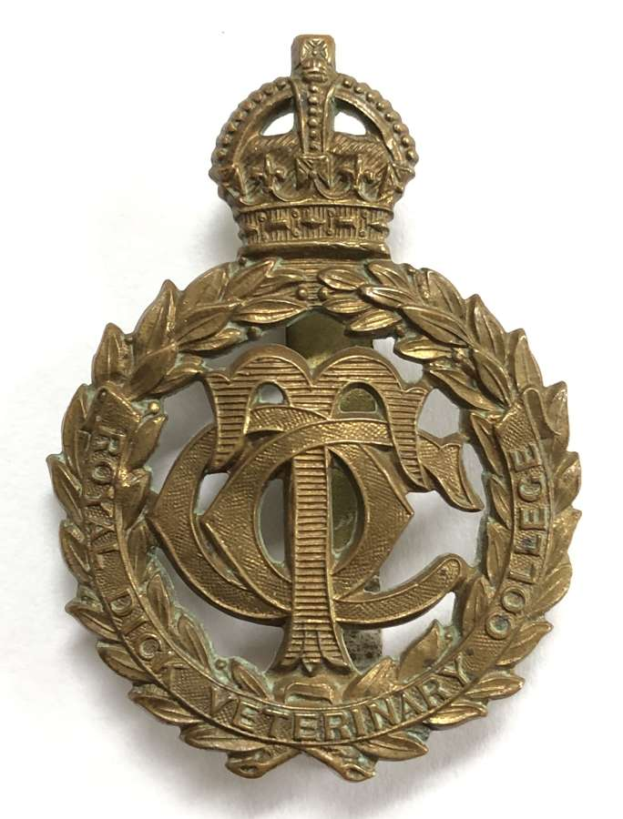 Royal Dick Veterinary College OTC (Edinburgh) Scottish cap badge