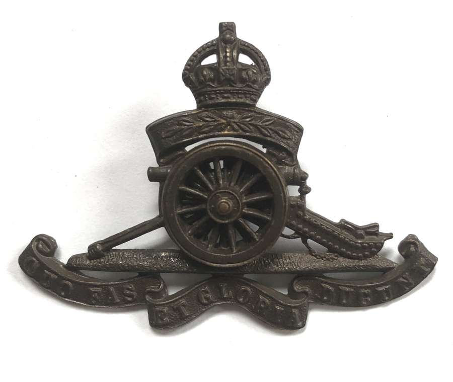 Territorial Artillery post 1908 Officer's OSD cap badge
