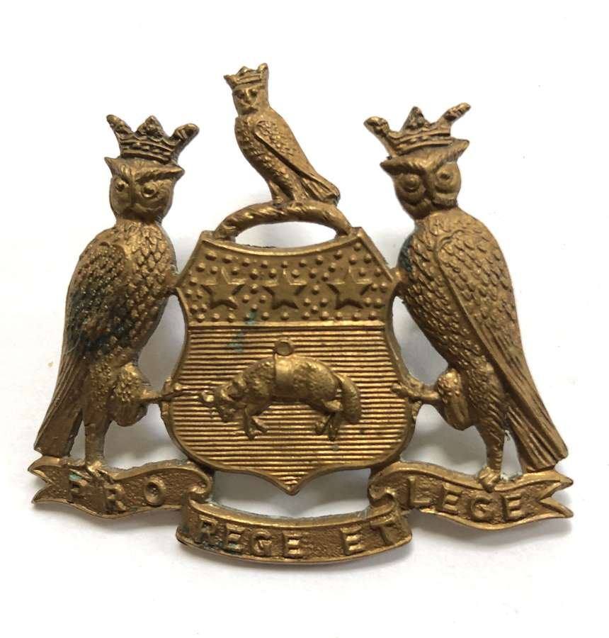 15th & 17th Service Bn West Yorks (Leeds Pals) WW1 cap badge
