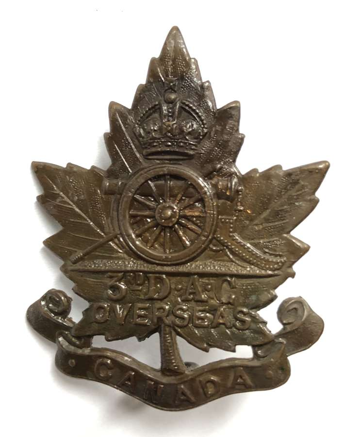 Canadian 3rd Divisional Ammunition Column CEF cap badge by Birks