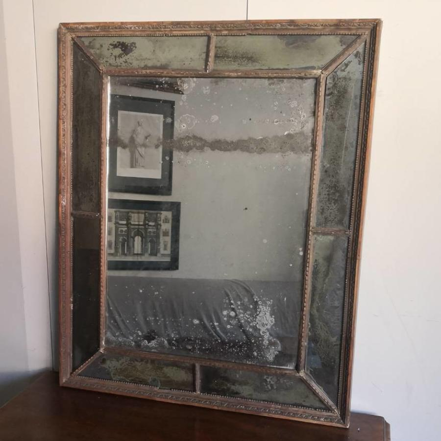 Eighteenth century sectional mirror